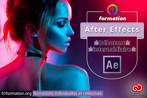 01Formation : formation Adobe Creative Cloud After Effects niveau débutant et intermédiaire