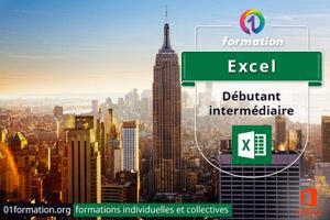 01Formation : formation Microsoft Excel niveau débutant et intermédiaire