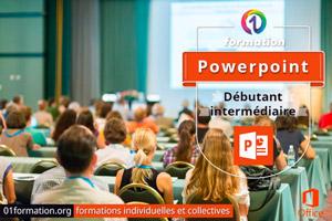 01Formation : formation Microsoft Powerpoint niveau débutant et intermédiaire
