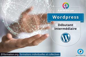 01Formation : formation Wordpress niveau débutant et intermédiaire