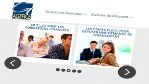 Image animée du site Agefice, organisme de financement des dirigeants