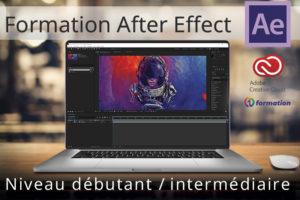 Image illustrant la formation After Effects niveau débutant à intermédiaire