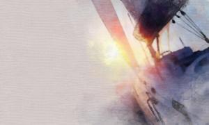 Image illustrant un voilier peint à l'aquarelle