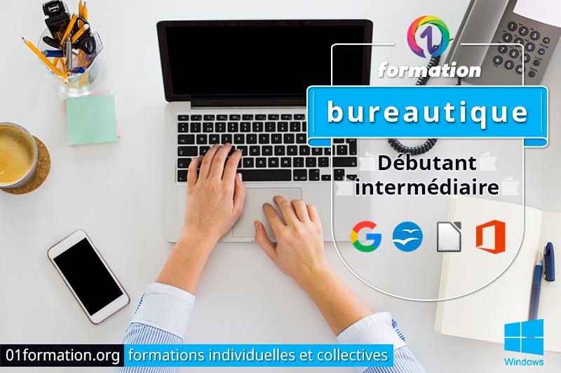 Image illustrant les formations bureautique par 01formation.org