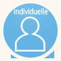 Icone avec une silhouette illustrant la formation individuelle