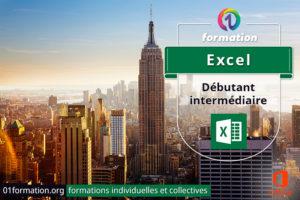 Image illustrant les formations Microsoft Excel par 01formation.org