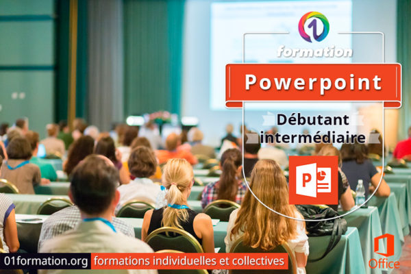 Image illustrant les formations Microsoft Powerpoint par 01formation.org