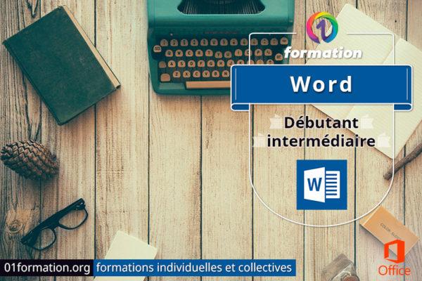 Image illustrant les formations Microsoft Word par 01formation.org