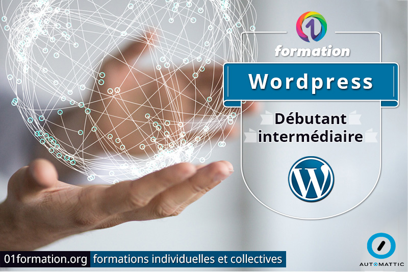 Image illustrant les formations Wordpress par 01formation.org