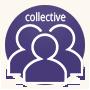 Icone avec plusieurs silhouette illustrant la formation de groupe