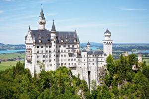Image du célèbre château de Neuschwanstein qui inspira les studios Disney
