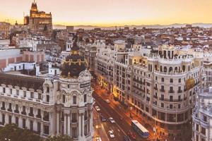 Image aérienne de la ville de Madrid