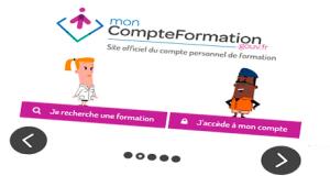 Image animée du site moncompteformation.gouv plateforme de gestion de la formation des salariés