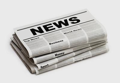 Image de journaux d'information ou news paper en anglais