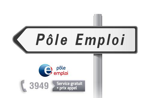 Image invitant à l'inscription chez Pole Emploi, l'agence publique nationale pour la recherche d'un emploi en France