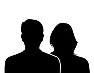 Portrait de silhouette masculine et féminine