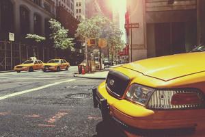 Image de taxis jaunes de New York