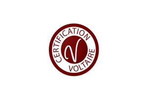 Logo de la certification Voltaire